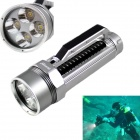 KINFIRE 1600lm Waterproof Dimming Diving Flashlight w/ 4 x CREE XM-L2 U2 - Silver (2 x 26650)
