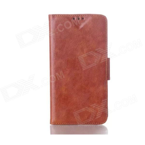 Oil Wax Leather TPU and PU Full Body Case with Stand for LG G3 - Brown oil wax leather tpu and pu full body case with stand for lg g3 min i red