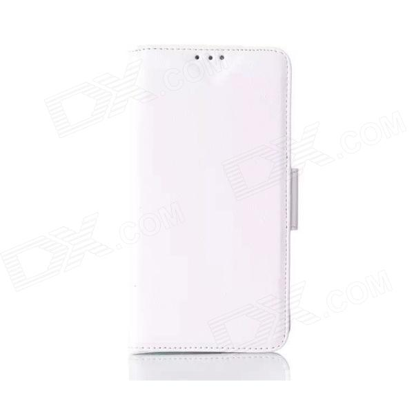 Oil Wax Leather TPU and PU Full Body Case with Stand for LG G3 - White lg g3 s