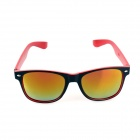 SYS0087 Fashion Ultra-light PC Frame PC Lens UV400 Sunglasses - Black + Red