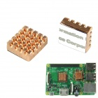 Copper Heat Sink for Raspberry Pi B+ - Red Copper (2PCS)
