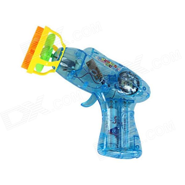 FR-22 Children's Electric Bubble Machine Gun Toy - Blue + Yellow (2 x AA) neje wooden useless fully assembled machine box toy brown 2 x aa