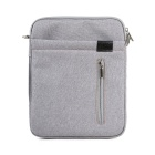 "Lenuo Stylish Ultrathin Protective Linen Soft One-Shoulder Bag for 7""~11"" Tablet PC - Grey"