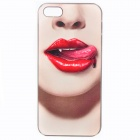 Fashion Design Basso-Relievo Red Lips Vampire Pattern Protective Back Case for IPHONE 5 / 5S