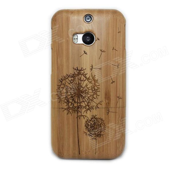Dandelion Pattern Detachable Protective Wood Back Case for HTC M8 - Wood