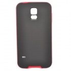 Bumblebee TPU + PC Protective Dust Resistant Back Case for Samsung Galaxy S5 - Black + Red