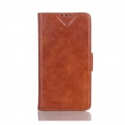 Oil Wax Leather TPU and PU Full Body Case with Stand for LG Optimus L90 D410 D405 - Brown
