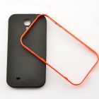 Bumblebee Protective TPU Plastic Back Case for Samsung Galaxy S4 i9500 - Orange + Black