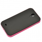Bumblebee TPU Plastic Back Case for Samsung Galaxy S4 i9500 - Black + Pink