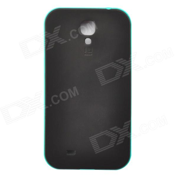 Bumblebee Protective TPU Plastic Back Case para Samsung Galaxy S4 i9500 - Acid Blue + Black
