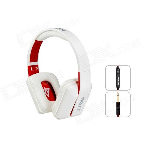 MQ77 Superb 3.5mm On-ear Headphones w/ Microphone - White + Red (1.2m-Cable) стоимость