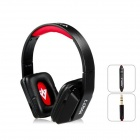 MQ77 Superb 3.5 mm On-ear Headphones w/ Microphone - Black - Red (1.2m-Cable)