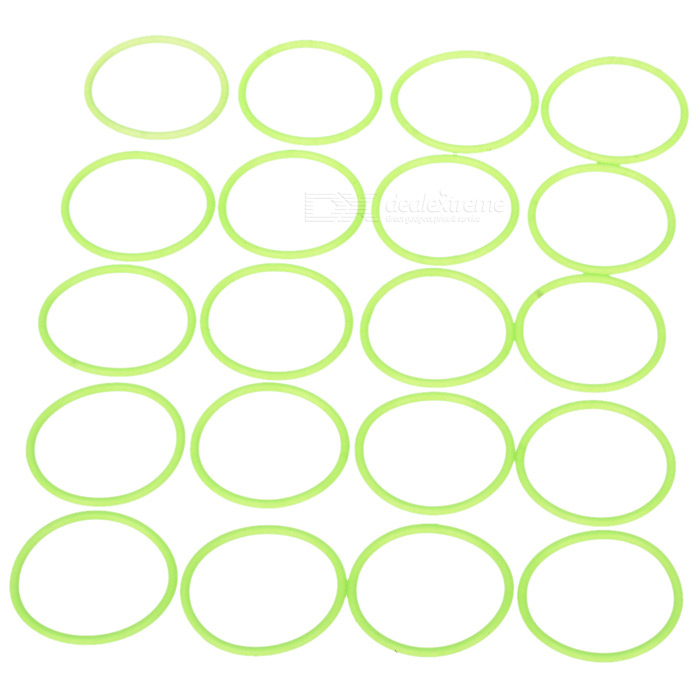 Glow-in-the-Dark Water-tight Silicone O-Ring Seal (20mm 20-Pack) diy wooden handcraft miniature provence dollhouse voice activated led light