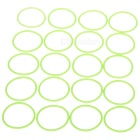 Glow-in-the-Dark silicona agua estanca O-anillo de sello (20mm 20-Pack)