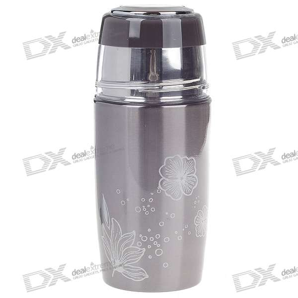 Stainless Steel Vacuum Bottle - Grey (320ml) indian steel industries performance and prospects