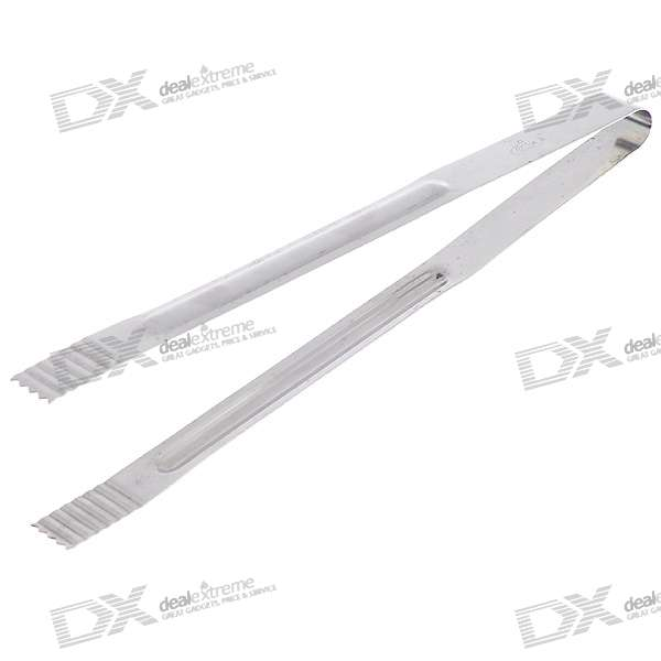 Polished Stainless Steel Ice Utility Tong (30CM-Length)