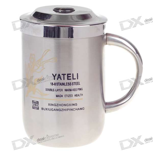 Stainless Steel Insulated Vacuum Mug - Silver (350ml)
