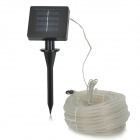 Solar Powered 6W 3500K LED Warm White Light Water-resistant Flexible Tube Light - White + Black