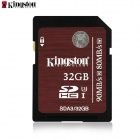 Kingston SDA3/32GB Class 3 High Speed SD Card w/ Overwrite Protection Switch - Crimson (32GB)