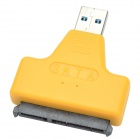 "USB 3.0 Male to SATA Female Adapter + USB 3.0 Male to Female Cable for 2.5"" Hard Disk - Yellow"