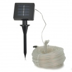 Solar Powered 6W 465nm LED Blue Light Water-resistant Flexible Tube Light - White + Black