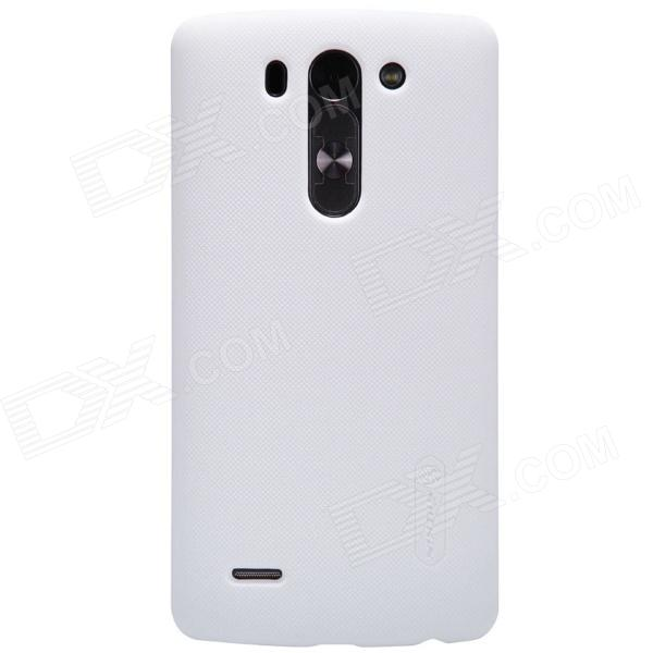 NILLKIN Matte Protective PC Back Case for LG G3 Beat - White nillkin protective matte frosted pc back case cover for lg g3 stylus black
