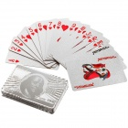 USD100 Pattern 24K Silver-Foil Plated Playing Cards Poker w/ Wooden Gift Box - Silver
