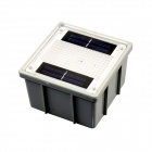 CIS-57438A Solar Powered 2-LED Yellow Garden Pathway Recessed Brick Light - Grey + White (1.2V)