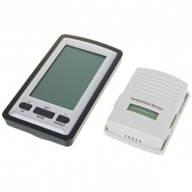 """4"""" LCD Wireless Out/Indoor Weather Station with Clock and Outdoor Temperature Sensor (2*AA)"""