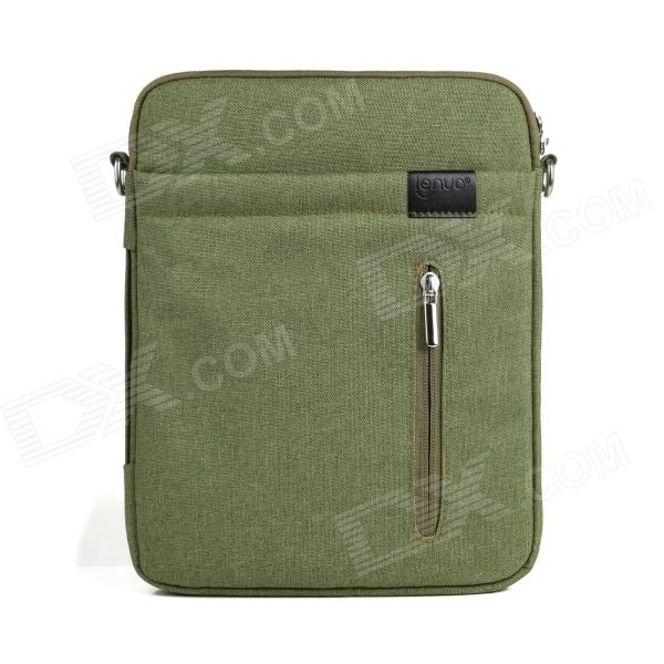 Lenuo Stylish Ultrathin Protective Linen Soft One-Shoulder Bag for 7~11 Tablet PC - Green radiation proof protective inner pouch bag for ipad tablet pc camouflage green
