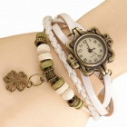 ZIQIAO Stylish Charm Bracelet Style Analog Quartz Wristwatch - White