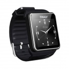 "TRULY Etimer Wearable 1.6"" Touch Screen Smart Watch w/ Bluetooth & Pedometer - Black"