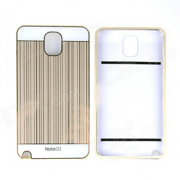 Protective Aluminum Alloy Bumper Frame w/ PC Back Cover for Samsung NOTE III - Champagne