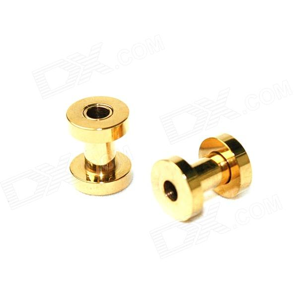 Men's Punk Titanium Expansion Earlobe Plug - Golden