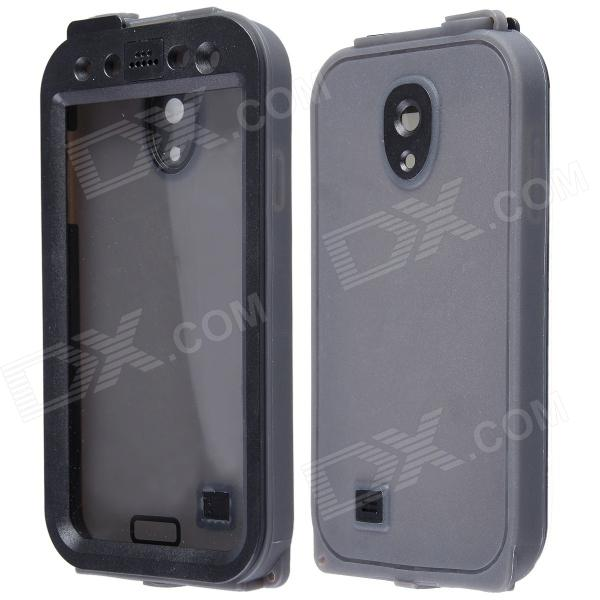 AOLUGUYA Anti Shock / Snow Water Resistant PC + Silicone Case for Samsung Galaxy S4 I9500 - Black