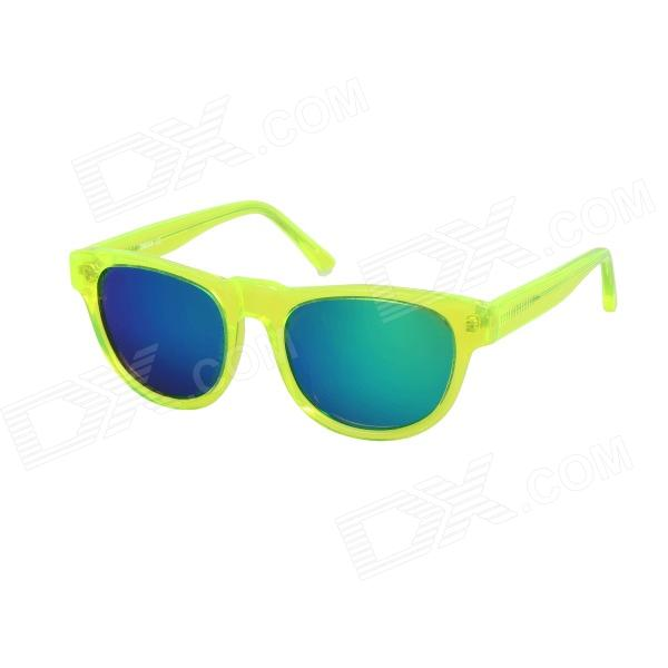 OREKA OR14017 Children's Fashionable Green REVO UV400 Sunglasses - Translucent Green oreka 1018 sports uv400 protection pc green revo sunglasses translucent grey