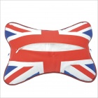 Bandeira Carking CS-30 Patterned Car Veículos Assento Head Neck Pillow Resto - White + Red + Blue (2pcs)