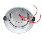 ZHISHUNJIA S025-3 3W 200lm 3000K 12-SMD 2835 LED Warm White Light Ceiling Lamp - Silver (AC 85~265V)