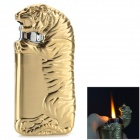 Creative Tiger Shaped Butane Aluminum Alloy Lighter - Golden