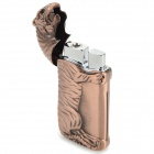 Creative Tiger Shaped Butane Aluminum Alloy Lighter - Brown