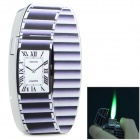 SYSH0035 Creative Stereoscopic Watch Style Zinc Alloy Butane Lighter - Black + Silver