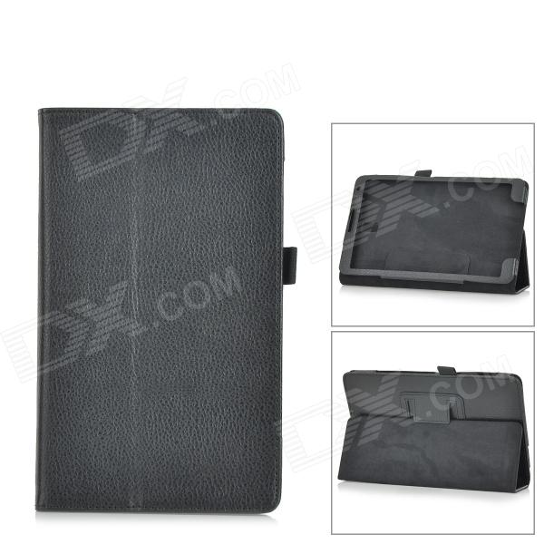 Lichee Pattern PU Leather Full Body Case for Samsung Galaxy Tab S Super T700 / T701 / T705 - Black