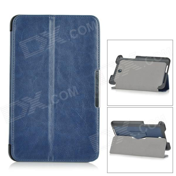 Stylish Flip-open PU Leather Case w/ Holder + Auto Sleep for ASUS MEMO Pad 8 ME180A - Blue new 8 inch for asus memo pad 8 me180 me180a digitizer touch screen with lcd display assembly frame