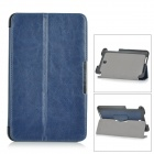 Stylish Flip-open PU Leather Case w/ Holder + Auto Sleep for ASUS MEMO Pad 8 ME180A - Blue