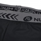 NUCKILY MK002 Ultra Thin Breathable Padded Cycling Shorts Pants - Black (XL)