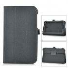 Lichee Pattern PU Leather Full Body Case w/ Stand for Asus FonePad 7 FE170CG - Black
