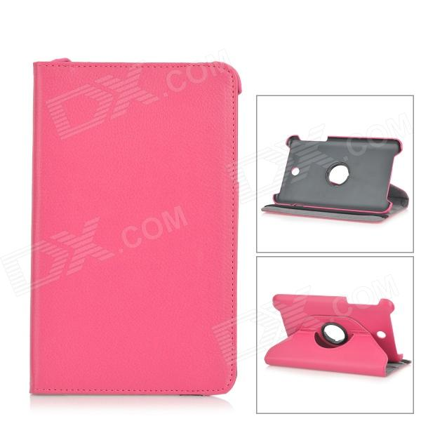 Lychee Pattern Rotatable PU Leather Full Body Case w/ Stand for Asus MEMO Pad 8 ME180A - Deep Pink от DX.com INT