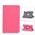Lychee Pattern Rotatable PU Leather Full Body Case w/ Stand for Asus MEMO Pad 8 ME180A - Deep Pink