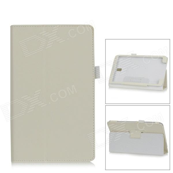 Lichee Pattern PU Leather Full Body Case for Samsung Galaxy Tab S Super T700 / T701 / T705 - White