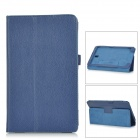 Lichee Pattern PU Leather Full Body Case for Samsung Galaxy Tab S T700 / T701 / T705 - Deep Blue